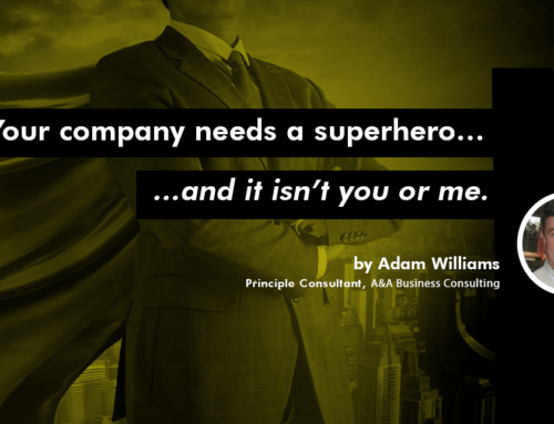 Your company needs a superhero…and it isn't you or me.