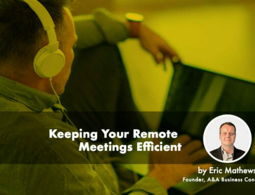 Keeping Your Remote Meetings Efficient